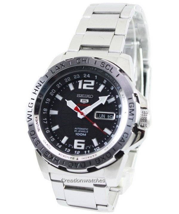 Seiko 5 Sports Automatic 24 Jewels 100M SRP683 SRP683K1 SRP683K Men's Watch - Click Image to Close