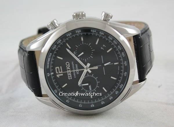 Seiko Chronograph Tachymeter SSB097 SSB097P1 SSB097P Men's Watch - Click Image to Close