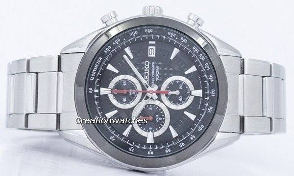 Seiko Chronograph Quartz Tachymeter SSB201 SSB201P1 SSB201P Men's Watch - Click Image to Close