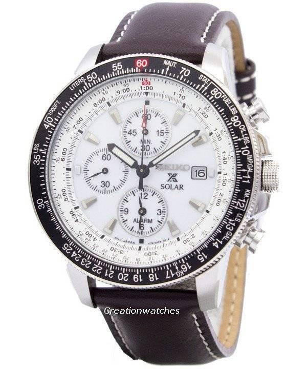 pilot s solar alarm chronograph flightmaster ssc013 ssc013p1 seiko pilot s solar alarm chronograph flightmaster ssc013 ssc013p1 ssc013p men s watch