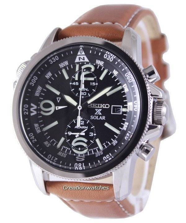 Seiko Solar Alarm Chronograph SSC081 SSC081P1 SSC081P Men's Watch - Click Image to Close
