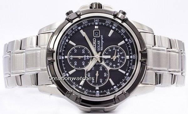 Seiko Solar Chronograph SSC147 SSC147P1 SSC147P Men's Watch - Click Image to Close