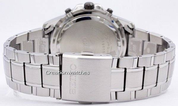 Seiko Solar Chronograph SSC147 SSC147P1 SSC147P Men's Watch - Click Image to Close