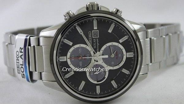 Seiko Solar Chronograph SSC255 SSC255P1 SSC255P Men's Watch - Click Image to Close