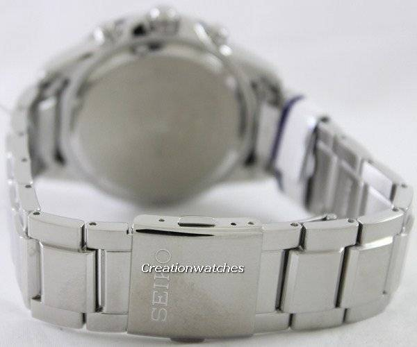 Seiko Solar Chronograph SSC255 SSC255P1 SSC255P Men's Watch - Click Image to Close