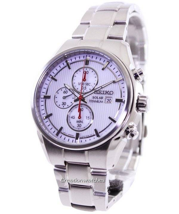 Seiko Solar Titanium Chronograph SSC363 SSC363P1 SSC363P Men's Watch - Click Image to Close