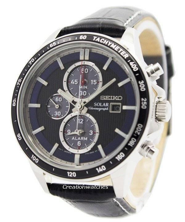 seiko solar chronograph alarm ssc437 ssc437p1 ssc437p mens watch
