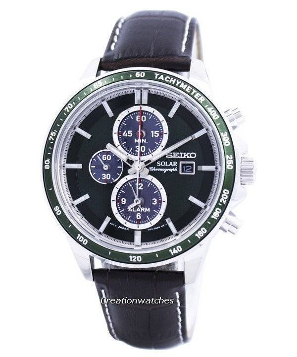 Seiko Solar Alarm Chronograph SSC501 SSC501P1 SSC501P Men's Watch - Click Image to Close
