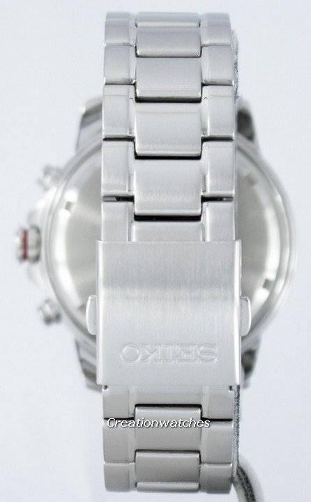 Seiko Solar Chronograph Alarm SSC557 SSC557P1 SSC557P Men's Watch - Click Image to Close