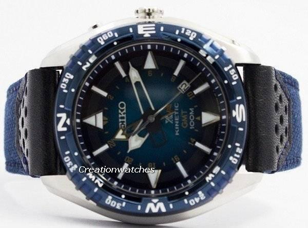Seiko Prospex Kinetic GMT 100M SUN059 SUN059P1 SUN059P Men's Watch - Click Image to Close