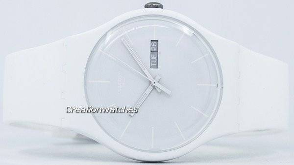 Swatch Originals White Rebel Quartz SUOW701 Unisex Watch - Click Image to Close