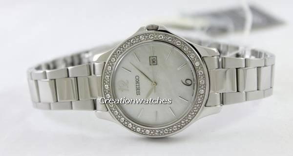 Seiko Quartz Swarovski Crystals SXDF77P1 SXDF77P SXDF77 Women's Watch - Click Image to Close