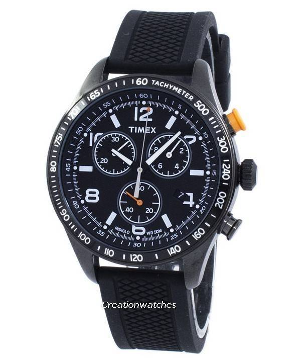 Timex indiglo chronograph quartz t2p043 men 39 s watch for Indiglo watches