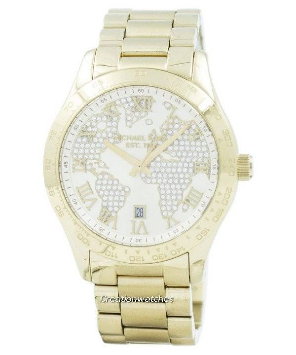 Michael kors layton engraved map crystal pave dial mk5959 womens refurbished michael kors layton engraved map crystal pave dial mk5959 womens watch gumiabroncs Images