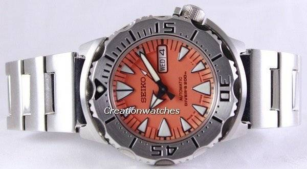 Refurbished Seiko Japan Made Automatic Divers Orange Monster SRP309J SRP309 Men's Watch - Click Image to Close