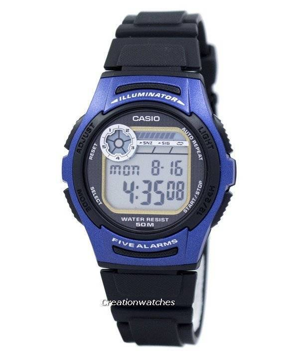 Casio Youth Digital 5 Alarms Illuminator W-213-2AVDF W213-2AVDF Men's Watch - Click Image to Close