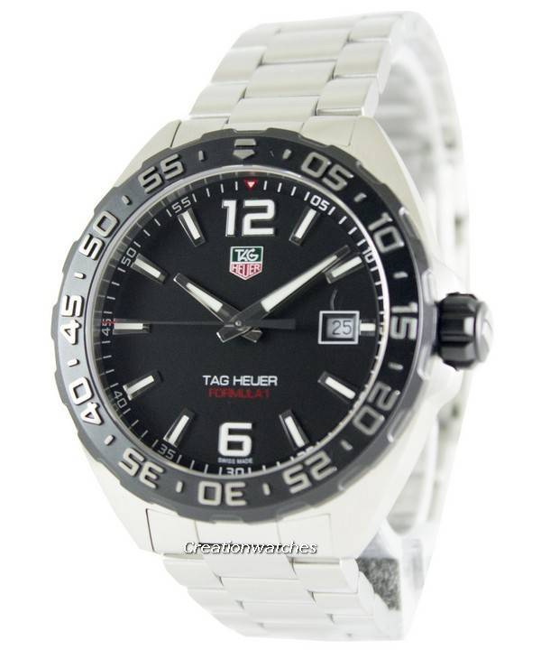 Tag Heuer Formula One Black Dial Stainless Steel WAZ1110.BA0875 Men's Watch - Click Image to Close