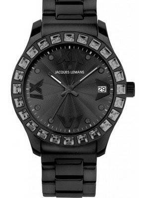 Jacques Lemans Black 1-1517O Ladies Watch