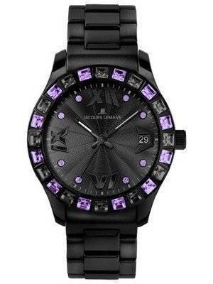 Jacques Lemans Rome Swarovski Crystals 1-1517R Ladies Watch