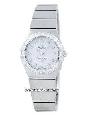 Omega Constellation Quartz Diamond Accent 123.15.24.60.55.002 Women's Watch