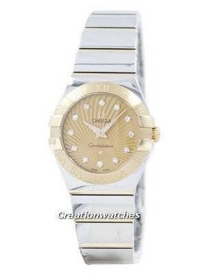 Omega Constellation Quartz Diamond Accent 123.20.24.60.58.002 Women's Watch