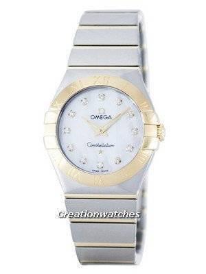 Omega Constellation Quartz Diamond Accent Power Reserve 123.20.27.60.55.002 Women's Watch