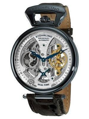 Stuhrling Original Emperor's Grand DT Automatic Dual Time 127A2.33X52 Men's Watch