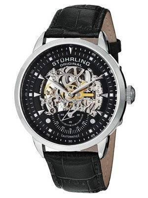 Stuhrling Original Executive Automatic Skeleton Black Leather 133.33151 Men's Watch