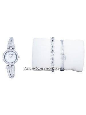 Anne Klein Quartz Swarovski Crystal 1869SVST Women's Watch