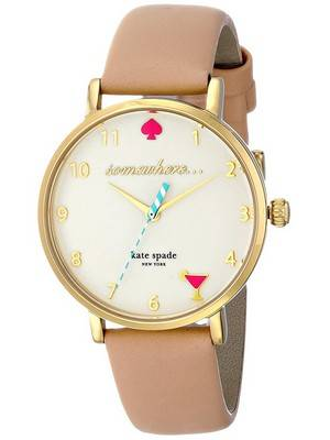 Kate Spade New York Metro Quartz Leather Strap 1YRU0484 Women's Watch