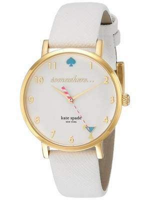Kate Spade New York Metro Quartz White Enamel Dial 1YRU0765 Women's Watch