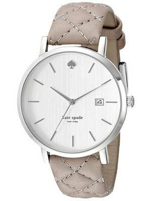 Kate Spade New York Metro Quartz Silver Dial Leather Strap 1YRU0846 Women's Watch