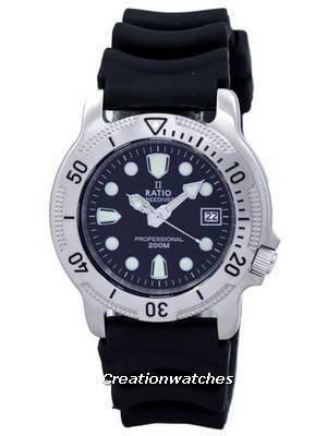 Ratio II Free Diver Professional 200M Sapphire Quartz 22AD202 Men's Watch