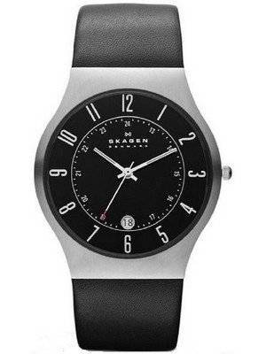 Skagen Grenen Classic Black Dial Black Leather 233XXLSLB Men's Watch