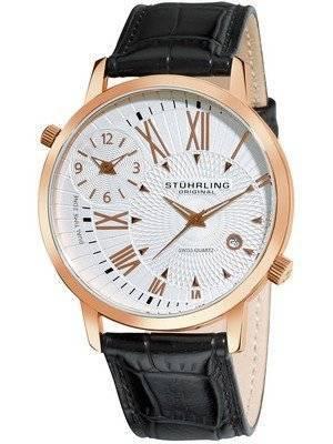 Stuhrling Original Polaris Dual Time Swiss Quartz 343.33452 Men's Watch