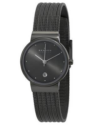 Skagen Quartz Gunmetal Swarovski Crystals 355SMM1 Women's Watch