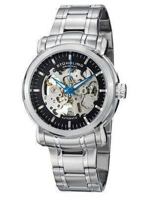 Stuhrling Original Delphi Antium Automatic Skeleton Black Dial 387.33111 Men's Watch