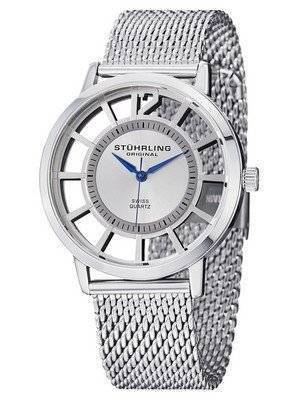 Stuhrling Original Winchester Swiss Quartz Silver-Tone 388M.01 Men's Watch