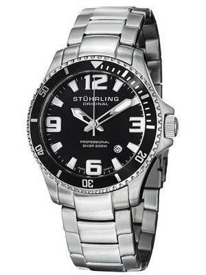 Stuhrling Original Aquadiver Regatta Champion Swiss Quartz 395.33B11 Men's Watch