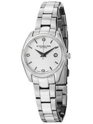 Stuhrling Original Ascot Prime Crystal Accented Swiss Quartz 414L.01 Women's Watch