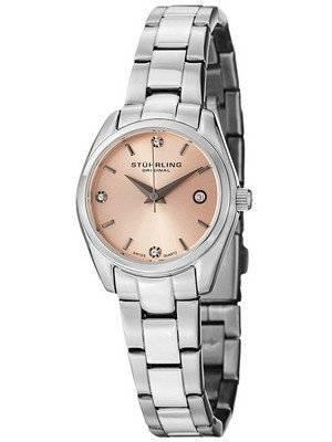 Stuhrling Original Ascot Prime Crystal Accented Swiss Quartz 414L.02 Women's Watch