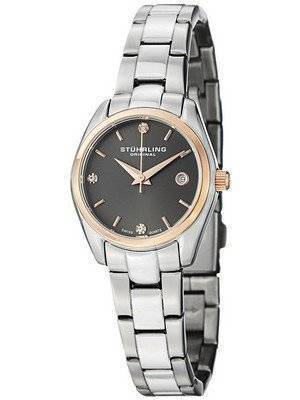Stuhrling Original Ascot Prime Crystal Accented Swiss Quartz 414L.04 Women's Watch