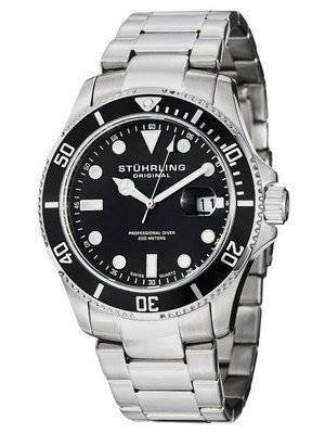 Stuhrling Original Regatta Espora Swiss Quartz Pro Diver 417.02 Men's Watch