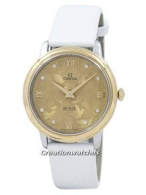 "Omega De Ville Prestige ""Butterfly"" Quartz Diamond Accent 424.22.33.60.58.001 Women's Watch"