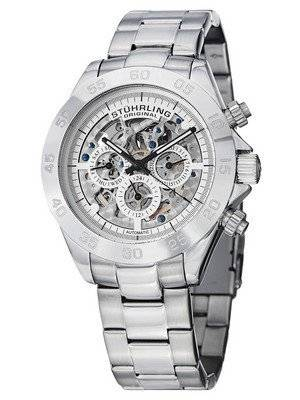Stuhrling Original Monaco Elite Automatic Skeleton Dial Multifunction 487.01 Men's Watch