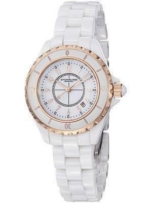 Stuhrling Original White Ceramic Quartz 530.114EW3 Women's Watch