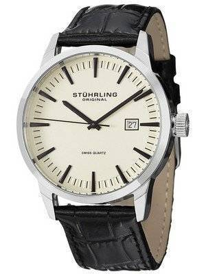 Stuhrling Original Classic Ascot 42 Swiss Quartz Date Display 555A.03 Men's Watch