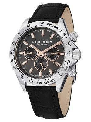 Stuhrling Original Triumph Classic Swiss Quartz Multifunction Grey Dial 564L.01 Men's Watch