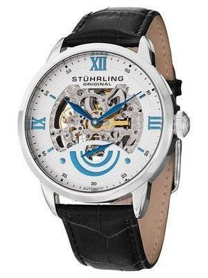 Stuhrling Original Executive II Automatic White Skeleton Dial 574.01 Men's Watch