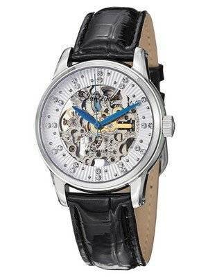 Stuhrling Original Vogue Audrey Stella Skeleton Swarovski Crystal 576.11152 Women's Watch